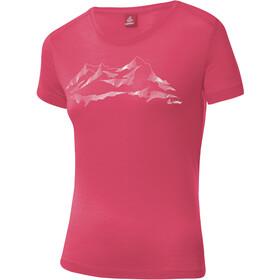 Löffler Merino Printshirt Damen flamenco